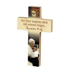 Hochwertiges #Papst-#Segenskreuz aus #Buchenholz