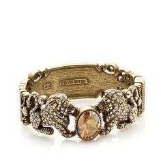 "Heidi Daus ""Queen of the Jungle"" Crystal-Accented Bangle Bracelet at HSN.com"
