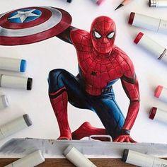 #spiderman #newavenger #avenger #avengers #marvel #marvelcomics #art #drawing #pencil #image #photo #illustration #ciwilwar #2016 #marveldrawing  #марвел #арт #фото #рисунок #человекпаук #мстители  #follow #like #repost #goodjob