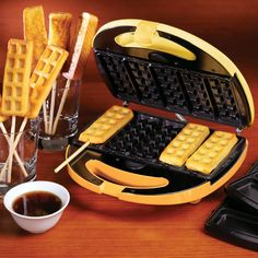 Nostalgia Waffle & French Toast Stick Maker - You could also use Popsicle sticks or reusable sticks