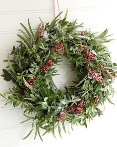 Simple step by step instructions on how to make a fresh holiday wreath using seasonal greens. 2015 Sweet Paul Holiday Co Christmas Wreaths To Make, Christmas Swags, Noel Christmas, How To Make Wreaths, Holiday Wreaths, Christmas Crafts, Christmas Decorations, Holiday Decor, Winter Wreaths