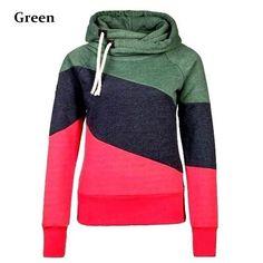 Women's Color Block Pullover Hoodies