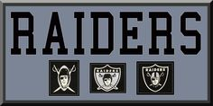 Oakland Raiders Team Wool Blend Fabric Logos Throughout The Years With Team Name & Team Color Double Matting-Awesome & Beautiful Large Picture-Most NFL Team Banners Available-Plz Go Through Description & Mention In Gift Message If Need A different Team