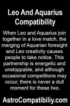 Leo woman hookup an aquarius man