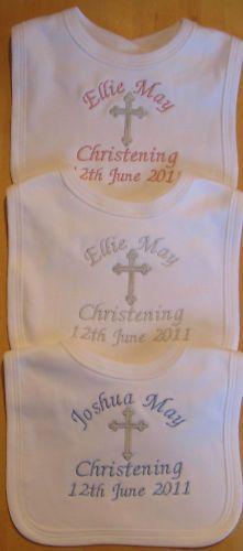 Christening Personalised Embroidered Baby Bib