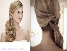 Peinados de novia con coleta de lado