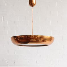 1930s copper ceiling light, Czechoslovakia