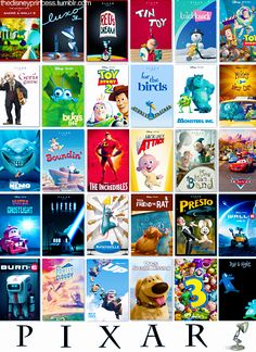 Pixar movies and the short films showed with them.