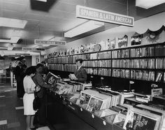 Record Store 1960s