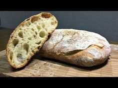 Ciabatta Bread with a moist and light taste. Of course, you can also taste the& The post Ciabatta Bread Recipe hydration & olive oil) appeared first on Recipe book. Ciabatta Bread Recipe, Bread Recipes, Cooking Recipes, Cooking Food, Dutch Oven Bread, Baking Buns, Gula, No Knead Bread, Bread Board
