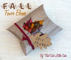 {Craft} Fall Favor Boxes | That Cute Little Cake