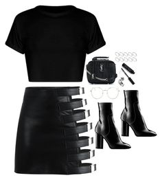 """""""Untitled #1986"""" by samikayy76 ❤ liked on Polyvore featuring Louis Vuitton, Topshop, Yves Saint Laurent, Bobbi Brown Cosmetics and ASOS"""