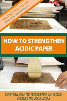 Learn about sizing: a method to strengthen weak, fragile and acidic paper. At the end of the post, be sure to check out the preservation guide. It's FREE and will help you recognize damaging storage and display methods commonly used.