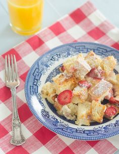strawberries & cream french toast casserole, aka bread pudding :)