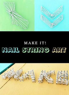 DIY basics - nail string art