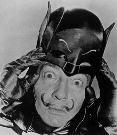 Dali as Adam West as Batman