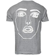 DISCLOSURE T-SHIRT #3 'THE FACE III' (GREY & WHITE)