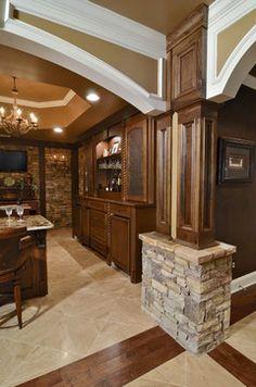 Basement Remodel - traditional - basement - atlanta - Hall Design Build