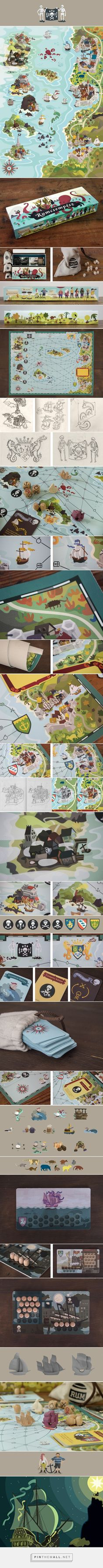 Rumsmuggler ☠ Board Game on Behance - created via http://pinthemall.net