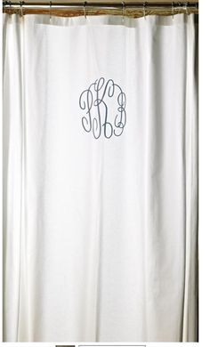 dying for a monogram shower curtain