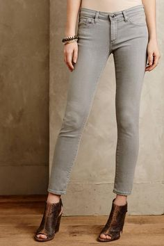 AG Adriano Goldschmied Stevie Ankle Jeans Slim Straight Low Rise Gray sz 25 X 28 #AGAdrianoGoldschmied #SlimStraightAnkle