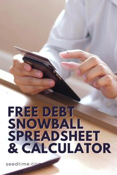 Creating a debt snowball is my preferred method of getting out of debt. When My wife and I were paying off $46k of debt, we actually didn't use a debt snowball worksheet, but looking back I think it really could have helped us. If you are wanting to pay off debt on your own, this works! #debtsnowball #payingoffdebt #debtpayoff #financialfreedom #debtfree #seedtime