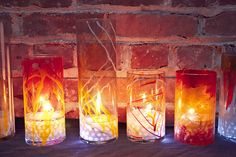 pretty 'firey' candle holders