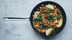 Arroz con Cosas (rice w things) aka paella Safest Cookware, Gourmet Recipes, Healthy Recipes, Mark Bittman, Benefits Of Organic Food, Organic Recipes, Ethnic Recipes, Horchata, Mushrooms