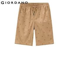 Giordano Men Bermuda Shorts 2017 Casual Summer Bermudas Printed Bermuda Cotton Moletom Masculino Brand Clothing Summer Shorts