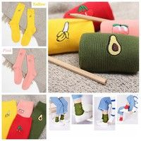 Style: Fashion Fruit Socks Fashion design,100% Brand New,high quality! Material: Cotton Size : One S