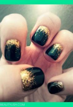 Fall Glitter  - Nail - Click image to find more nail art posts