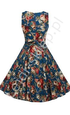 Hapqeelin Vintage Audrey Hepburn A Line Dress-blue It's colorful & no sleeves, maybe it's good for a relative or neighbor's visit? Vintage Wear, Vintage Girls, Vintage Looks, Vintage Dresses, Vintage Outfits, Blue Fashion, Retro Fashion, Vintage Fashion, Fashion Outfits