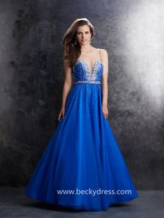 2015 Style A-line Tulle Prom Dresses/Evening Dress