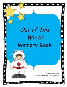 Your kiddos can share their memories with this space themed end of the year memory book. In additional to a cover page this book includes pages for personal information, favorite things, math and science memories, find someone who, and an autograph and message page.