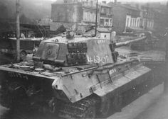 A German King Tiger tank.