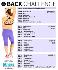 The 30 Day Fitness Challenge: Back Workout | Fitness Magazine