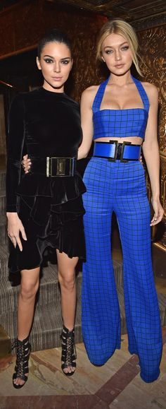 Gigi Hadid and Kendall Jenner Turned Up the Heat at the Balmain Aftershow Dinner