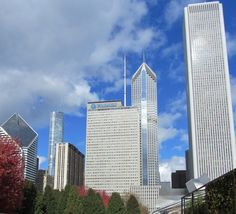 Dwarfed but still proud, the Prudential building in Chicago today.