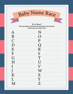 Baby Shower Games Pink Blue Instant Print Unlimited Print Pack of 6 Games . - Baby Shower Games Pink Blue Instant Print Unlimited Print Pack of 6 Games A - Bebe Shower, Idee Baby Shower, Girl Shower, Baby Shower Parties, Baby Boy Shower Games, Baby Shower Crafts, Babyshower Games For Boys, Baby Shower Games Printable, Baby Shower Jeopardy