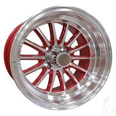 Phoenix, Machined w/ Red w/ Center Cap, 14x6 ET-25