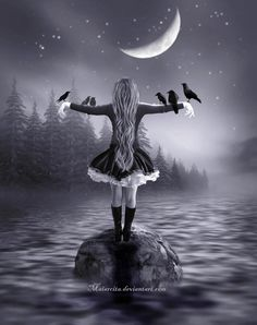 My Friends and The Moon by maiarcita.deviantart.com on @deviantART