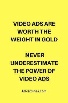 Video ads are worth the weight in gold. Never underestimate the power of video ads.  #SocialMedia  #Digital  #Strategy  #blogging #bloggingtip #marketingtip #marketing #videomarketing #Cardiff