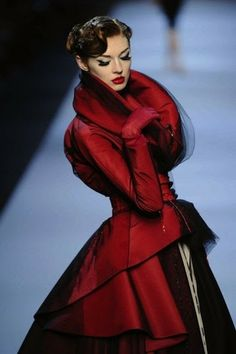 Gorgeous red gown. High Fashion.