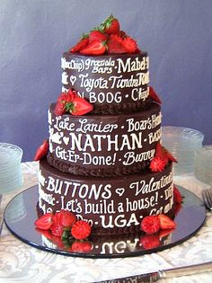 groom can put all his favorites on the cake