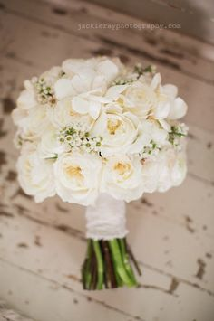 The Bride Will Carry A Round Bouquet Of White Peonies Garden Roses Spray Ranunculus And Wrapped In Ivory Ri