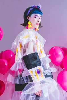 (Fashion Photography: Tiffany Lin) #photographer #londonphotographer #fashionphotographer #commercialphotographer #creativephotographer #highendphotography #creative #fashion #fashionphotography #colourful #colorful #pink #balloons #girl #dream #fairytale