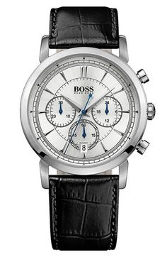 BOSS HUGO BOSS 'Classic' Round Chronograph Watch, 40mm available at #Nordstrom
