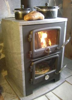 Wood stove that has a small oven too! This would be great to save some gas just baking a few things
