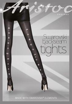 retty Polly Pretty Special Tights w/ Swarovski Elements Black