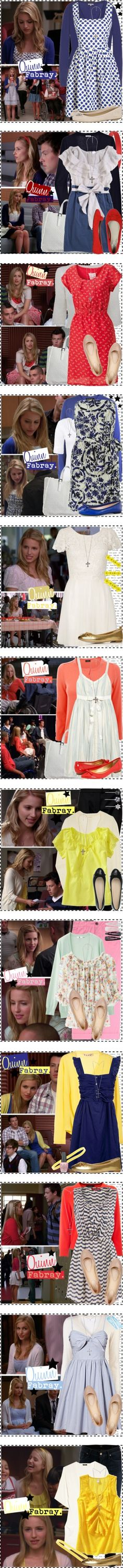 """Quinn Fabray [Glee]."" by silver-screen-style ❤ liked on Polyvore"